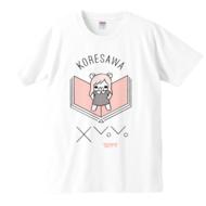「本の上にれ子どーん」Tシャツ