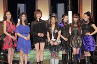"""ANIMAX MUSIX 2011""記者会見に登壇した左より)ELISA、茅原実里、May'n、KOTOKO、Kalafina"