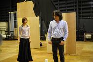 ミュージカル『嵐が丘』より、河村隆一、平野綾の稽古風景