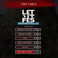 『LET IT FES』タイムテーブル
