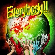 WANIMA、1stフルアルバムジャケはラスタカラーの地球と支える手!?