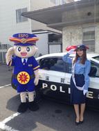 橘ゆりかが滋賀県東近江警察署で一日警察署長