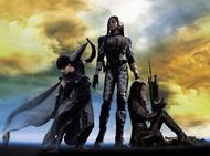 黒木メイサ、菊地凛子、佐伯日菜子という人気女優がクールなビジュアルを披露している『アサルトガールズ』メインイメージ