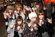 SPICY CHOCOLATE『東京RAGGA LOVERS』発売当日、渋谷に集結したギャル・ファッション誌で活躍中のモデル達