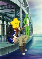 「荒川 アンダー ザ ブリッジ」第2弾キービジュアル(作画:杉山延寛、背景:スタジオちゅーりっぷ)