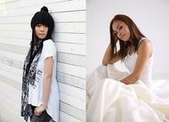 (写真左から)レーベルメイトである菅原紗由理とMiss Monday