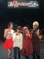 """""""V3新人オーディション""""で共演した、(写真左より)安田レイ、瀧川ありさ、GARNiDELiA・メイリア、GARNiDELiA ・toku"""
