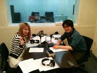 「Radioなおしゃべる。」収録風景(左:nao、右:鷲崎健)