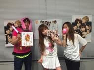 「PUNCH LINE!」発売日当日のLINE生放送に出演した中川翔子