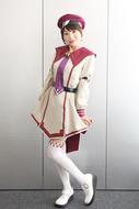「白銀のカルと蒼空の女王」のキャラクターコスに挑戦した長谷川明子