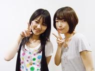 「井ノ上奈々のメモオフラジオ」より、井ノ上奈々さん(左)、鹿野優以さん(右)