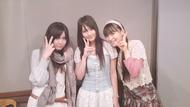 「今井麻美・喜多村英梨のRADIO コープスパーティー!」より、喜多村英梨(左)、ゲストの山本彩乃(中央)、今井麻美(右)