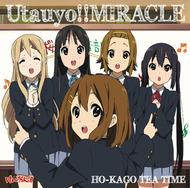 初登場3位を記録した、放課後ティータイム「Utauyo!!MIRACLE」初回限定盤ジャケット画像