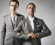 アンダーワールドのカール・ハイド(写真右)とリック・スミス