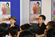 トークイベントに登場した木村良平さん(左)、神山健治監督(右)