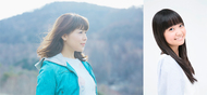 """「ラブ+I・N・G」を発表した""""つん・へご""""の新田恵海(写真左)、大橋彩香"""