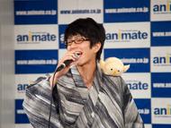 浴衣姿でイベントに登場したプロイセン役の高坂篤志さん