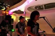 松本零士がプロデュースした水上バスでリリースパーティを開催した中塚武