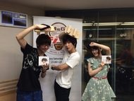 「A&G TRIBAL RADIOエジソン」より、(写真左から)花江夏樹、佐香智久、日高里菜