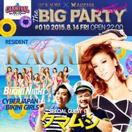 """「DJ KAORI×ageHa presents""""THE BIG PARTY #010 SUMMER SPECIAL""""」ポスター"""