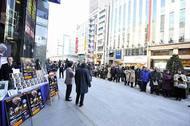 「世界のオザワ」復活CDを求め銀座山野楽器本店に長蛇の列 photo credit by Kentaro Kanbe Listen Japan