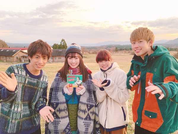 LONGMAN、主題歌を担当するドラマ『ゆるキャン△』の主演女優・福原遥と初対面